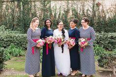 Veterans Memorial Building Wedding: Carisa + Rene « Serafin Love by Tanya Herrera | Dainty Jewell's Damask-Print Layering Dress
