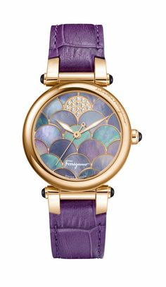 Ferragamo Ladies Stainless Steel and Calfskin Strap Watch ($2,195) | 33 Mermaid Gifts For Aspiring Ariels | POPSUGAR Love & Sex