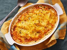 Wanting to try this without the potato!  Spaghetti Squash and Potato Gratin : This recipe takes creamy potato gratin to a new level. By pairing it with spaghetti squash, you're adding amazing texture and great flavor to this traditional dish — plus finding yet another reason to buy spaghetti squash!