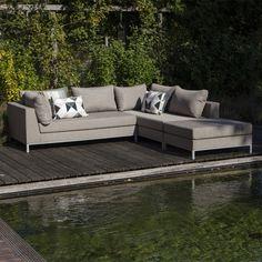 Deze Casablanca loungeset van Exotan is het kleine broertje van de Sicilie loungeset van Exotan. Texfabric stof met een waterdichte sealing.