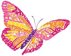 Large hand drawn Butterfly  | ... lettering hand drawn hand made insects business corporate decisions