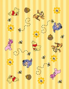 Free Printable Winnie The Pooh Wrapping Paper or Scrapbooking Paper