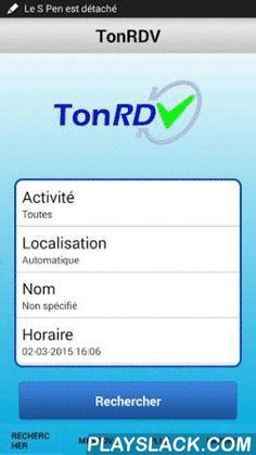 TonRDV  Android App - playslack.com , Trouve un rendez-vous rapidement et près de chez toi.Tu recherches un professionnel ? Médecin, coiffeur, esthéticienne, garagiste… TonRDV le trouve en fonction de tes critères de sélection (date, heure, spécialité, nom, localisation).C'est simple, gratuit, rapide et sécurisé.