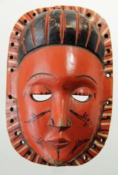 African Ibibio Mask from Nigeria,Wall Mask, Nigerian Mask,Hand Carved Mask,Tribal Mask,Ethnic Collectible Mask,Vintage Mask by Grainsofafrica on Etsy