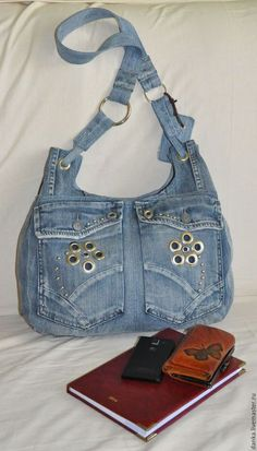 Shoulder tote bag blue denim satchel women s bag denim patchwork pouch recycled jans gift for a girl woman casual bag eco friendly upcycled – ArtofitTendance Sac 2018 : Jeans bagRecycled jeansShoulder handbagcasual denim bag forHandmade Handbag for wome Diy Jeans, Mochila Jeans, Blue Jean Purses, Patchwork Bags, Denim Patchwork, Denim Purse, Recycled Denim, Bag Patterns To Sew, Girls Bags