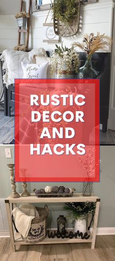 Brilliant Rustic Home Design #diyhomedecor #rustichomedesign Diy Rustic Decor, Rustic Home Design, Rustic Theme, Diy Home Decor, Entryway Tables, Things To Come, House Design, Decoration, Simple