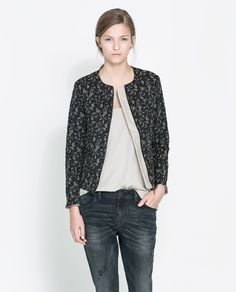 ZARA - WOMAN - QUILTED JACQUARD JACKET