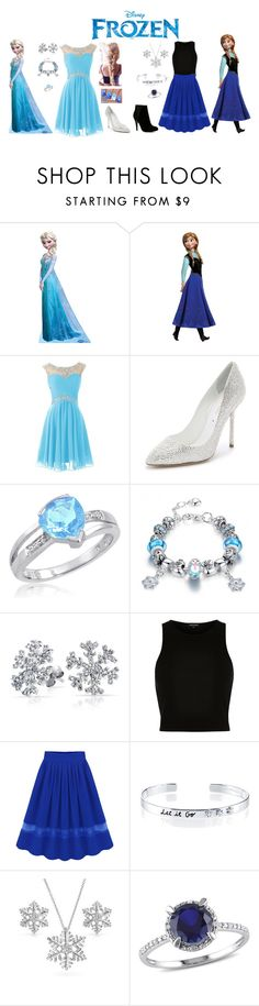 """Anna & Elsa ~ Frozen"" by desireewolfe ❤ liked on Polyvore featuring Disney, Sergio Rossi, Amanda Rose Collection, Bling Jewelry, River Island, Belk Silverworks, ALDO, disney, frozen and anna"