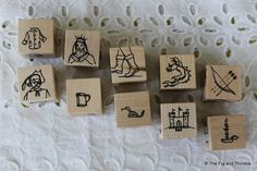 Storytelling Cubes - Hand Illustrated Historical/Classic Fantasy Set of Ten