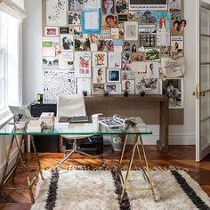 Wohnideen  Arbeitszimmer Home Office Büro - Weiß Büro zu Hause mit Foto-Funktion Wand