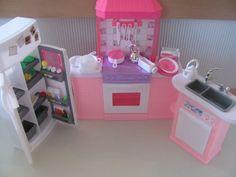 barbie size dollhouse furniture kitchen set zfindinghttpwwwamazon amazoncom barbie size dollhouse