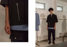 The range is a delivery of both symmetry and asymmetry, carried out on various unisex and oversized garments.