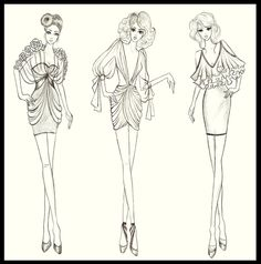 How To Draw Fashion Sketches | fashion design dresses 3 by twishh designs interfaces fashion fashion ...