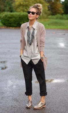 outfit + cole haan gramercy oxfords