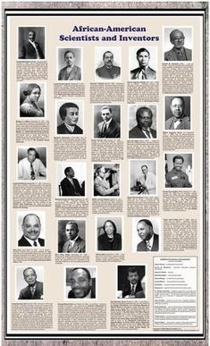 American Educational African-American Scientists and Inventors Historical Poster African American Scientists, African American Inventors, African Americans, Black History Month, Black History Facts, We Are The World, In This World, Black Pride, African Diaspora