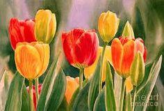 Resultado de imagen de tulipanes para pintar al oleo