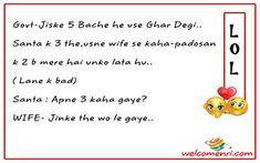 new jokes, jokes, santa, banta, jokes for all Santa Banta Jokes, Bad Santa, Jokes In Hindi, Read More, Funny Jokes In Hindi