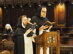 Western Dominican Vocations     The cantors chant the antiphons and psalms from the Dominican Graduale.