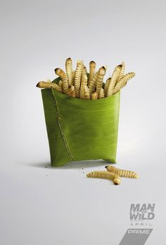 Kebab, pizza and french fries take on entirely different meanings in these creative ads for Man Vs Wild. For those of you who are unfamiliar with the