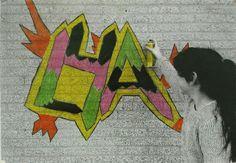 Graffiti in groep 8