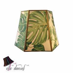 Custom lamp shade - green leaves lamp shade. Order custom shades at www.elledaniel.com or buy designer shades at www.etsy.com/shop/elledaniel #LampShades #Custom #Sarasota #wallpaper #green #leaves #florida #trending #westvirginia #electric #inspiration #