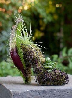 Verzameling florale schoenen;Idee voor een expositie?