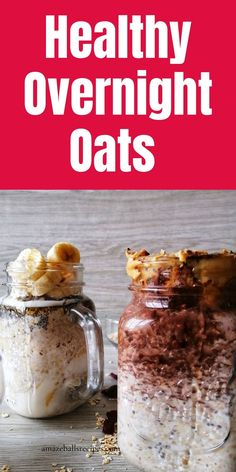 Looking for healthy overnight oats or healthier breakfast ideas ? Discover best overnight oats recipe | Overnight oats for weight loss recipe. Overnight oats recipe easy. Best Overnight Oats Recipe, Peanut Butter Overnight Oats, Banana Overnight Oats, Peanut Butter Banana, Chocolate Peanut Butter, Clean Eating Menu, Clean Eating Grocery List, Amazeballs Recipe, Grab And Go Breakfast
