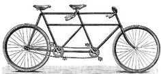 tandem bike stamp $8.25