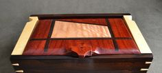 Love the top!! Handmade Wood Jewelry box by DvCdModernWood on Etsy, $275.00