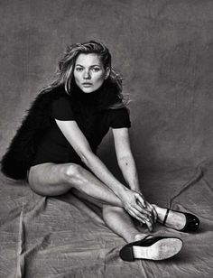 Kate Moss for Vogue Italia. Photo by Peter Lindbergh.