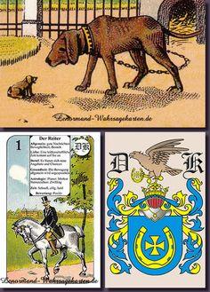 Antikes Lenormand für Kartenleger, optimal zum Kartenlegen lernen