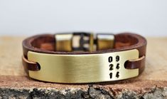 FREE SHIPPING Personalized leather bracelet by echoleathers