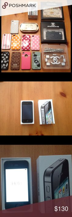 Apple iphone 4s 16GB Black UNLOCKED  with 14 Cases * SOLD * Apple-iPhone-4s-16GB-Black-UNLOCKED-Smartphone- bundle with 14 CASES, some of which are brand new. Very good to excellent condition. *Fully functional, everything works perfect. Ready for activation. *No accessories, cables nor chargers included, just the phone, box and booklet. Also including 14 CASES. (refer photos please, is the actual item you will receive). If you interested please let me if you have any questions. APPLE Other