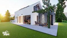 Projekt rodinného domu s názvom Castello, je dvojpodlažný dom s celkovou úžitkovou plochou 144,80 m². Dom ponúka na prízemí dostatok priestoru pre obývaciu izbu a kuchyňu s jedálenskou časťou, izbu, samostatné odvetrané WC a kúpeľňu, sklad potravín, garáž a skladovaciu miestnosť. Chodby sú navrhnuté s ohľadom pre úložný priestor typu roldor. Z obývacej izby je schodiskom sprístupnené poschodie, ktoré ponúka okrem malej kúpeľne spálňu a veľkú izbu s panoramatickým oknom a prístupom na terasu. Home Fashion, Mansions, House Styles, Outdoor Decor, Home Decor, Decoration Home, Manor Houses, Room Decor, Villas