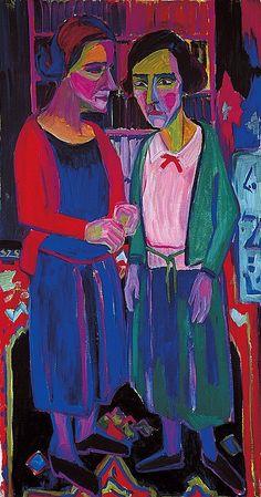 Hermann Scherer (1893-1927) was een Duits-Zwitserse schilder van het expressionisme . Tussen 1910 en 1919 werkte hij als steenhouwer. Hij was een autodidact schilder. Niet tevreden vernietigde hij veel van zijn werken. Invloed op zijn artistieke ontwikkeling toen hij een bezoek aan een Munch tentoonstelling bracht en de kennismaking met Kirchner . In 1924, had hij eindelijk de kans om deel te nemen aan de tentoonstelling van recente Duitse kunst met 3 van zijn houten beelden.