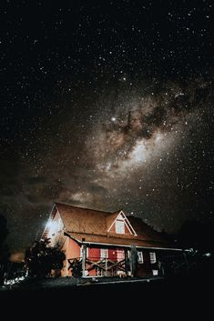 brown and red cottage at night Iphone Wallpaper Sky, Night Sky Wallpaper, Mobile Wallpaper, Good Night Gif, Good Night Image, Beautiful Small Tattoos, Free Stock, Red Cottage, Night Photos