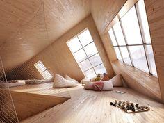 Кубическая хижина в горах (Cuboidal Mountain Hut) в Словакии от Atelier 8000.