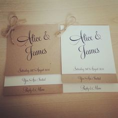Vintage/Rustic brown/ivory wedding invitation by TheVowSheffield