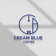 로고 + 간판 | 크림블루커피(CREAM BLUE... | 라우드소싱 포트폴리오 2 Logo, Logo Branding, Branding Design, Best Logo Design, Creative Logo, Cafe Shop Design, Coffee Shop Logo, Interior Logo, Bakery Logo Design