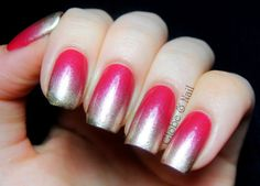 Globe & Nail: Neon pink nails with silver gradient (based on Effie Trinket's nails in The Hunger Games! Neon Pink Nails, Gradient Nails, Pink Polish, Nail Polish, Hair And Nails, My Nails, Effie Trinket, Hair Due, Nails Only