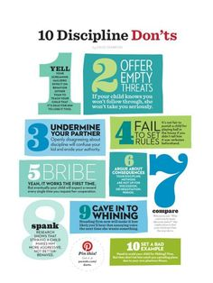 Reminder: discipline Don'ts