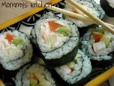 Mommy's Kitchen: California Sushi Rolls {Make Them Yourself It's Easier Than You Think}