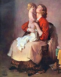Orpen, William (Irish, 1878-1931) - Lady Orpen and Child - s.d. | Flickr - Photo Sharing!