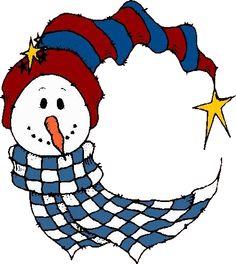 CRESCENT SNOWMAN