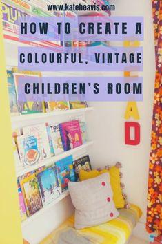 A colourful, vintage children's room - Kate Beavis Vintage Expert Vintage Room, Vintage Tins, Teenage Room, Vintage Colors, Vintage Children, Room Inspiration, Boy Bedrooms, Princess Crowns, Donna Dewberry