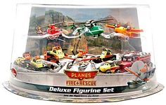 Disney PLANES: Fire & Rescue Exclusive Deluxe 10 Piece PVC Figure Play Set [Pontoon Dusty, Blade Ranger, Windlifter, Lil' Dipper, Mayday, Dynamite, Avalanche, Blackout, Drip & Pinecone] Unknown http://www.amazon.com/dp/B00L3E3AX6/ref=cm_sw_r_pi_dp_Xe4xub015QG98