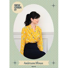 Anderson Blouse PDF Sewing Pattern – Sew Over It's Online Fabric Shop