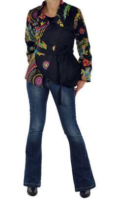 Manteau femme court imprimé alisha