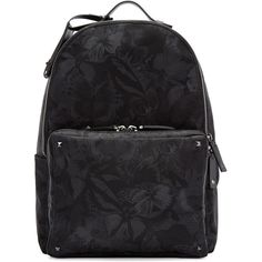 Valentino Black Butterfly Backpack (206605 RSD) ❤ liked on Polyvore  featuring men s fashion 8ec340fb86a1e