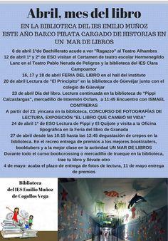 Programación de actividades de la biblioteca del IES Emilio Muñoz de Cogollos Vega